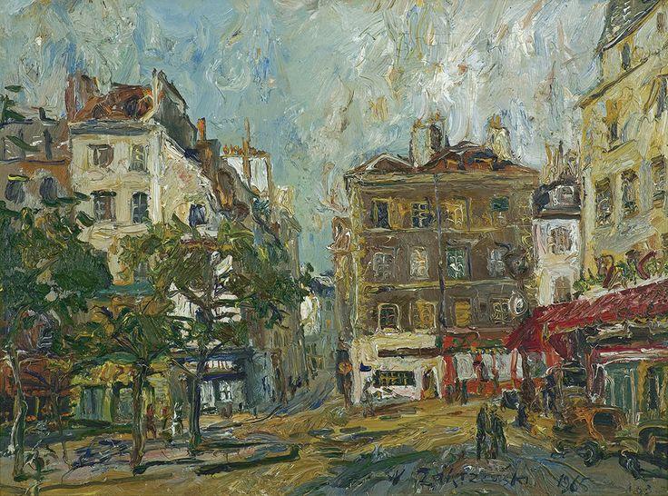 Zakrzewski Włodzimierz - PARYŻ. PLACE DE LA CONTRESCARPE, 1965 olej, płótno, 60 x 80