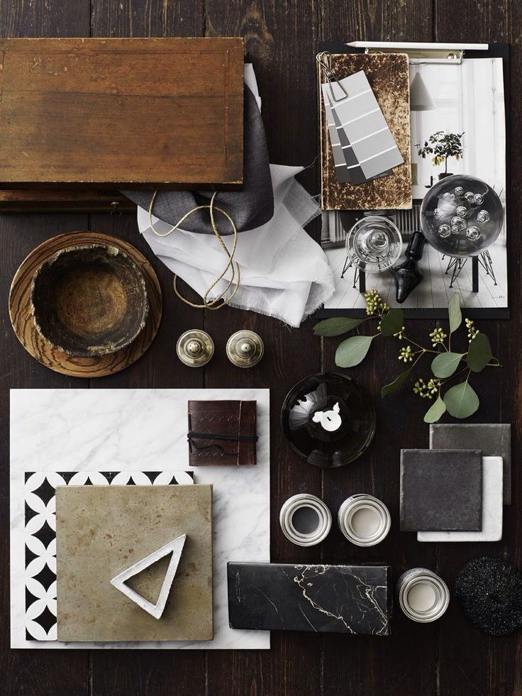Warm naturals with black & grey