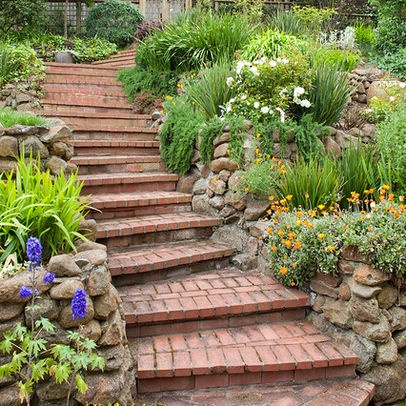 17 best images about brick steps on pinterest gardens for Brick steps design ideas
