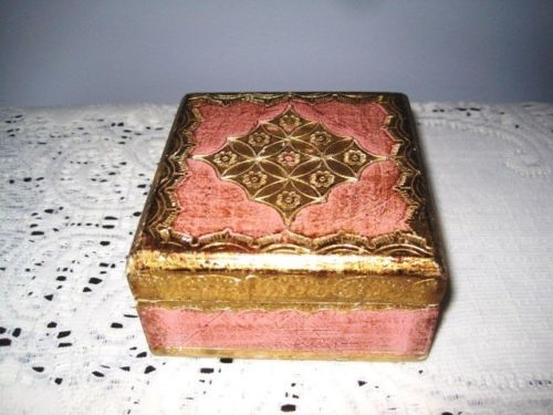 Gilt-Gold-Pink-Vintage-Shabby-Italian-Wood-Tole-. Jewelry BoxJewellery ... & 206 best All Things Florentine images on Pinterest | Vintage ... Aboutintivar.Com