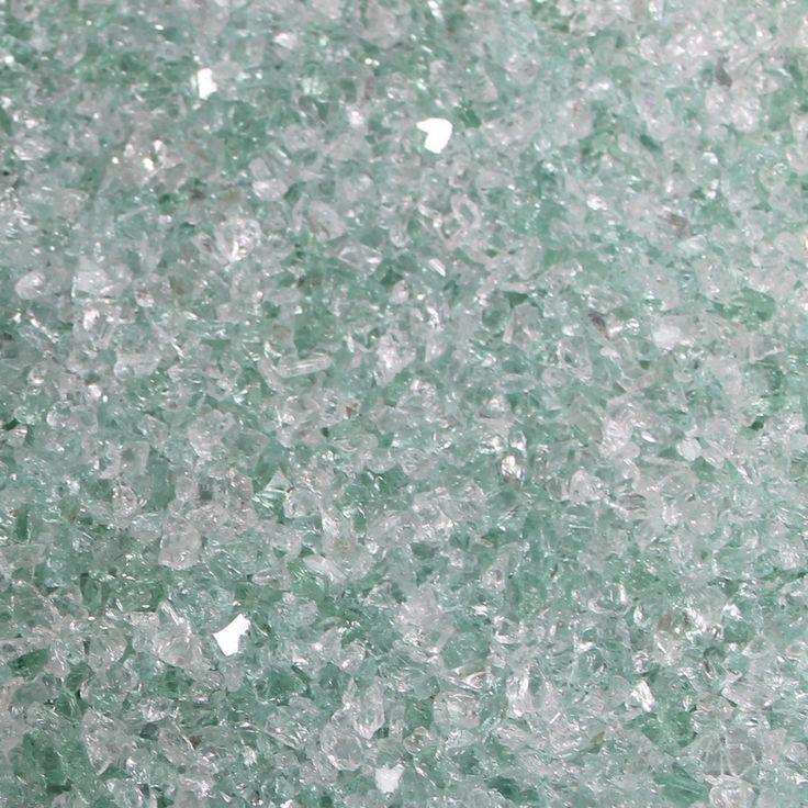 Dekorationsglas Hvid/Grøn 2-5 mm