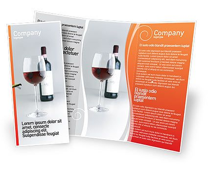bottle of wine brochure template