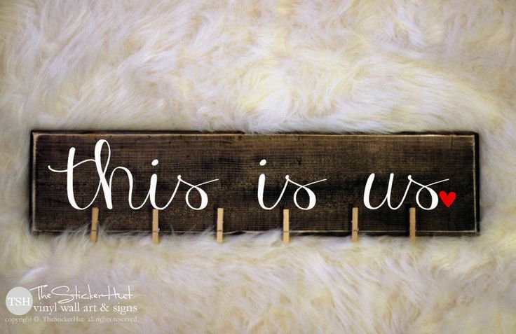 This is us Wood Sign - Home Decor - Photo Display - Wall Decor - Gift Ideas - Picture Display - Distressed Wooden Sign S261 by thestickerhut on Etsy