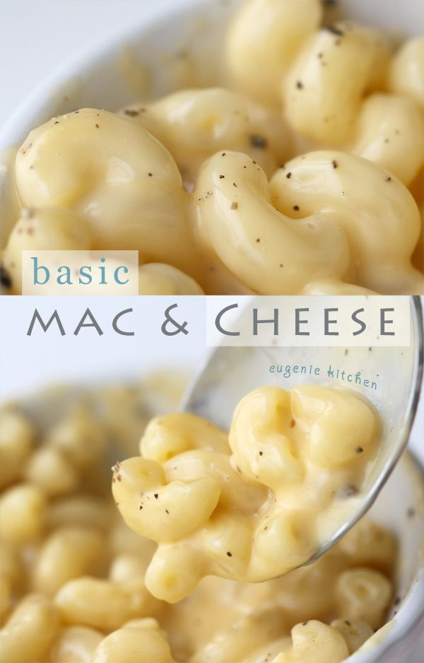Basic Stove-top Mac And Cheese Recipe - very quick and easy! I used shell pasta - yum! The recipe uses a lot of fancy words - but don't be intimidated - it's super basic ;)