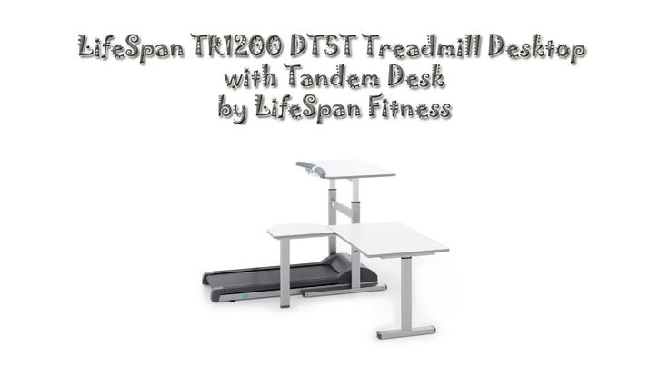 LifeSpan TR1200 DT5T Treadmill Desktop with Tandem Desk...