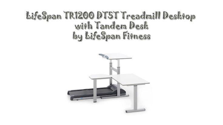 LifeSpan TR1200 DT5T Treadmill Desktop with Tandem Desk...