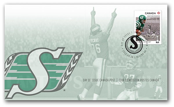 THE RIDERS | Canada Post | Saskatchewan Roughriders Official First Day Cover | Issued: August 16, 2012