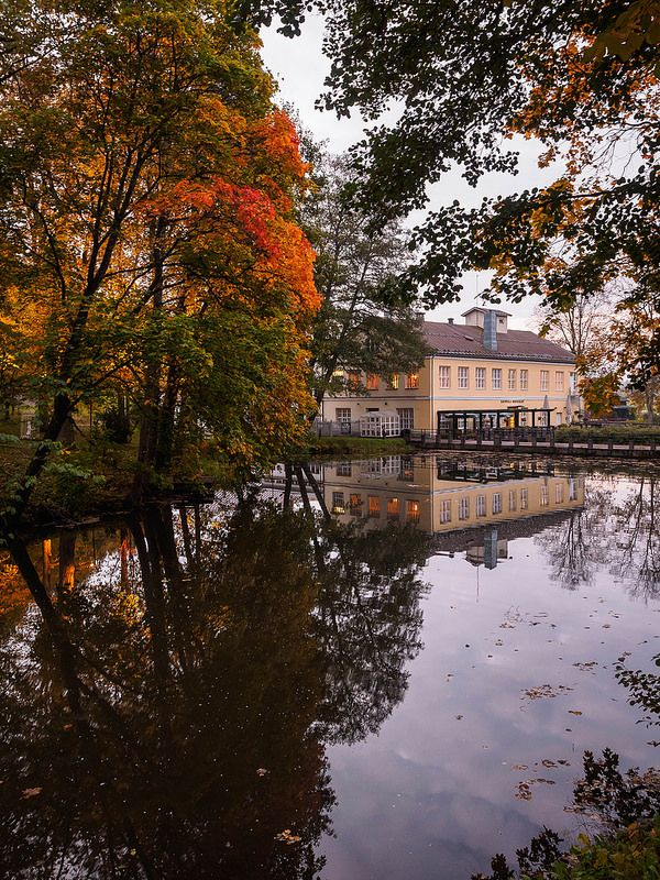 In southern Finland is Fiskars village, here in autumn colours.