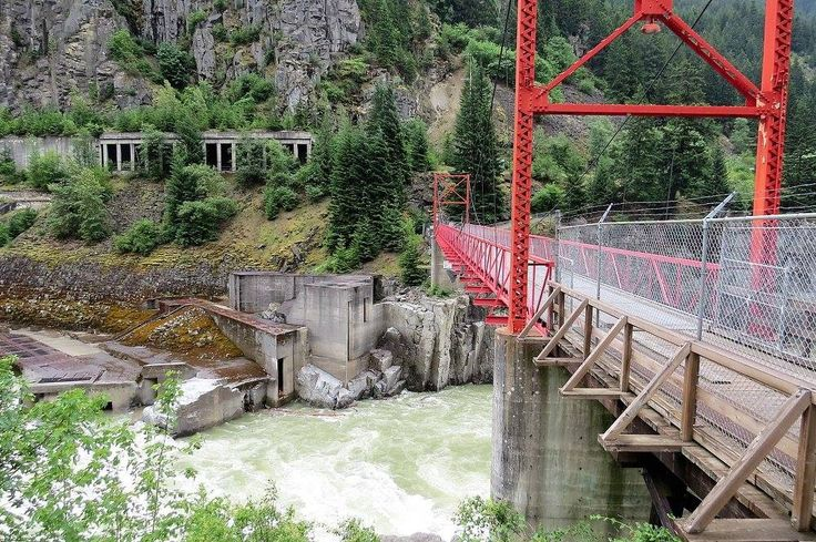 Suspension bridge at Hell's Gate, BC