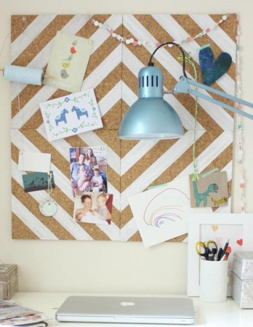 adorable painted cork board!