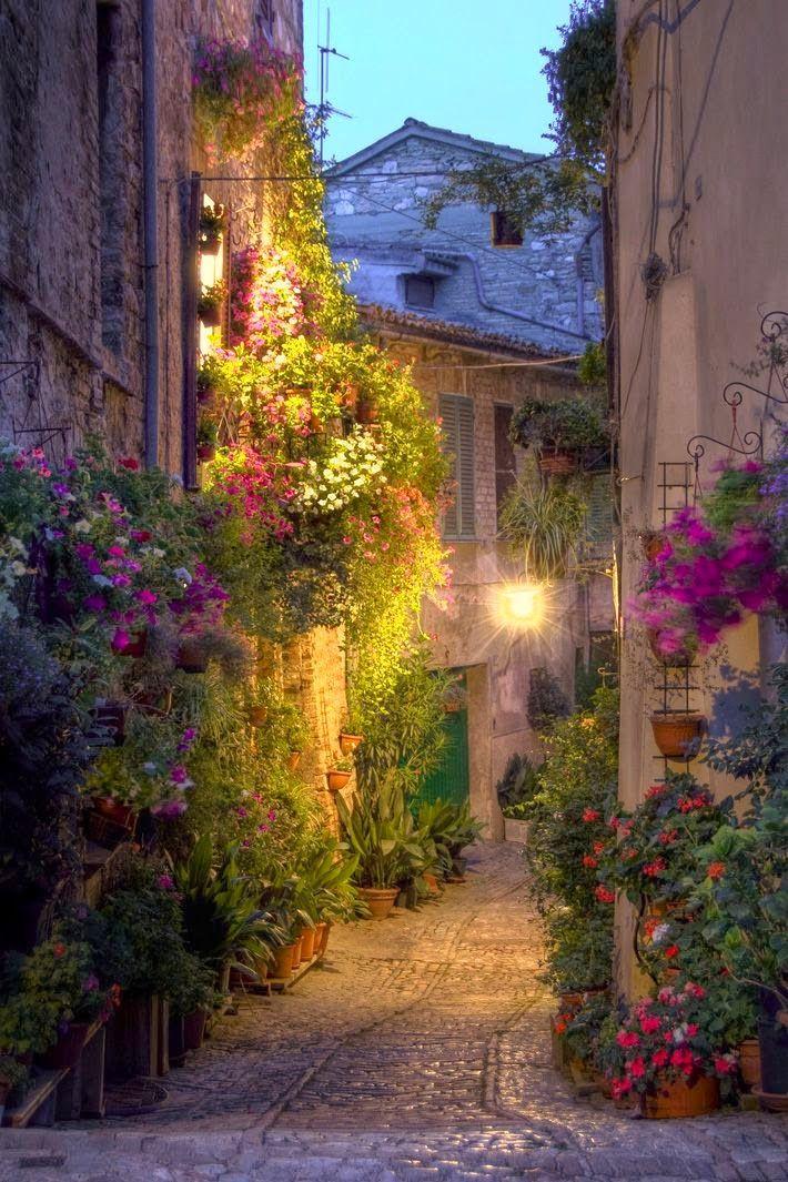 Street in Spello, Italy