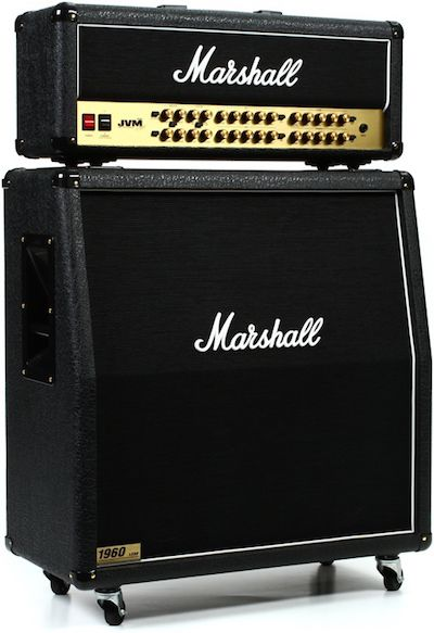 Marshall JVM410H Half Stack. This is  a versatile all-tube guitar amp that lets you switch between multiple Marshall circuits, from the old JTM45 to modern high-gain.  It's also the amplifier that GuitarSite.com chose as the top amp for 2016.
