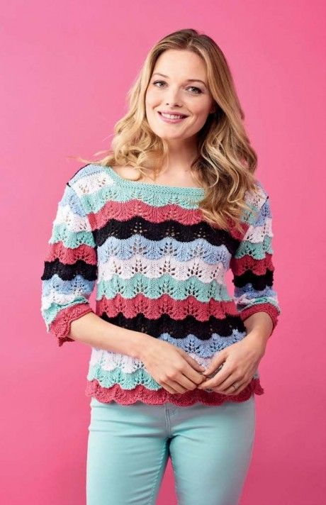 Scallop Sweater To Knit For Summer Free Knitting Patterns