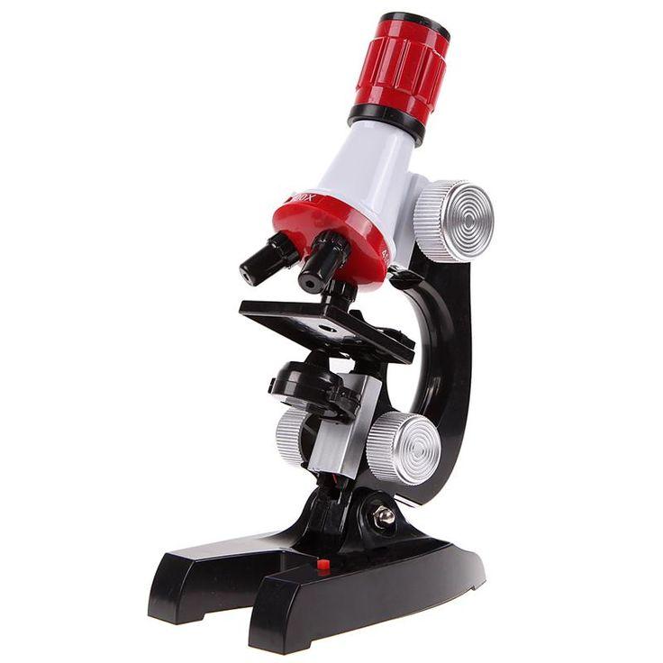<b>100X</b>-<b>1200X Microscope Kit Lab</b> LED Home School Educational ...