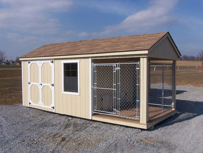 The 25 best insulated dog kennels ideas on pinterest for Dog kennel shed combo plans