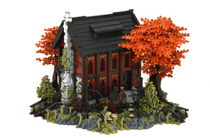 Patrick Massey - Westwood Inn -     The Westwood Inn is a welcoming stop for those traveling along the Nocturnus-Mitgardia border.(A build for GoH on Eurobricks. Thanks for looking! Gratitude and apologizes to those who saw/faved/commented on this yesterday - didn't realize until right after I uploaded the pics that a couple of parts had fallen off during photography. Doh!)  Thanks to Stephen Braker for the awesome olive-green tree design!