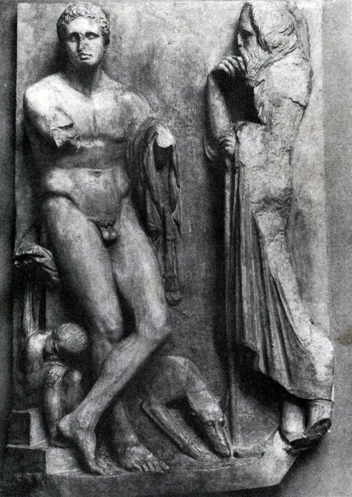 Скопас. Надгробие юноши с реки Илисса