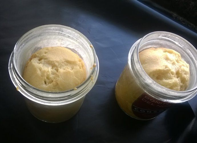 Bizcocho en tarros de cristal para #Mycook http://www.mycook.es/cocina/receta/bizcocho-en-tarros-de-cristal