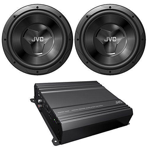 New JVC cspk2120 Car Audio Amplifier & subwoofer Package