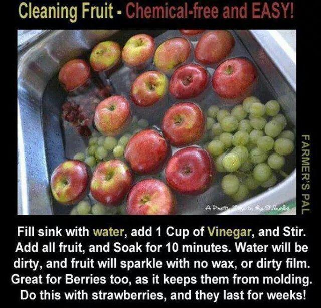 Vinegar fruut wash