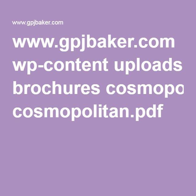 www.gpjbaker.com wp-content uploads brochures cosmopolitan.pdf