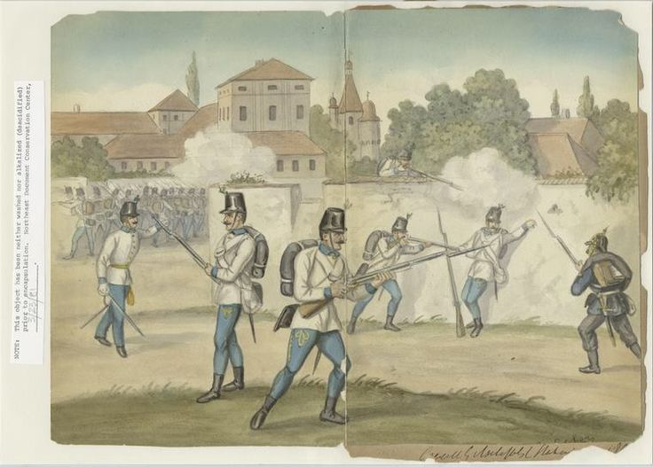 Hungarian infantry, 1859