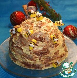 """Рецепт: Торт """"Улей"""""""