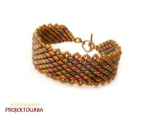 Szeroka i elegancka #bransoleta z #superduo i #toho #beads #handmadejewelry