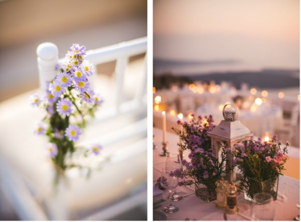 Romantic & Organic details for this Santorini Wedding | Image by Sam Hurd |   #weddingflowers #santoriniwedding #santoriniflorist #stellaandmoscha #santoriniweddingplanner