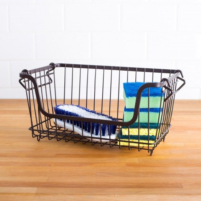 Store anything anywhere with a simple and stylish Ashley Wire Basket. These lightweight baskets are stackable and easy to move to wherever you need them most.