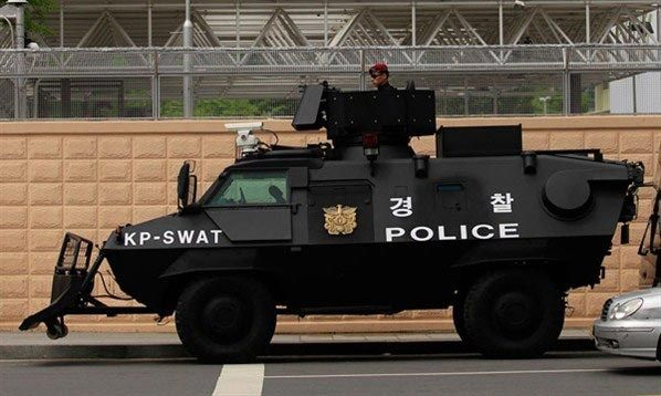 Armored SWAT police vehicle
