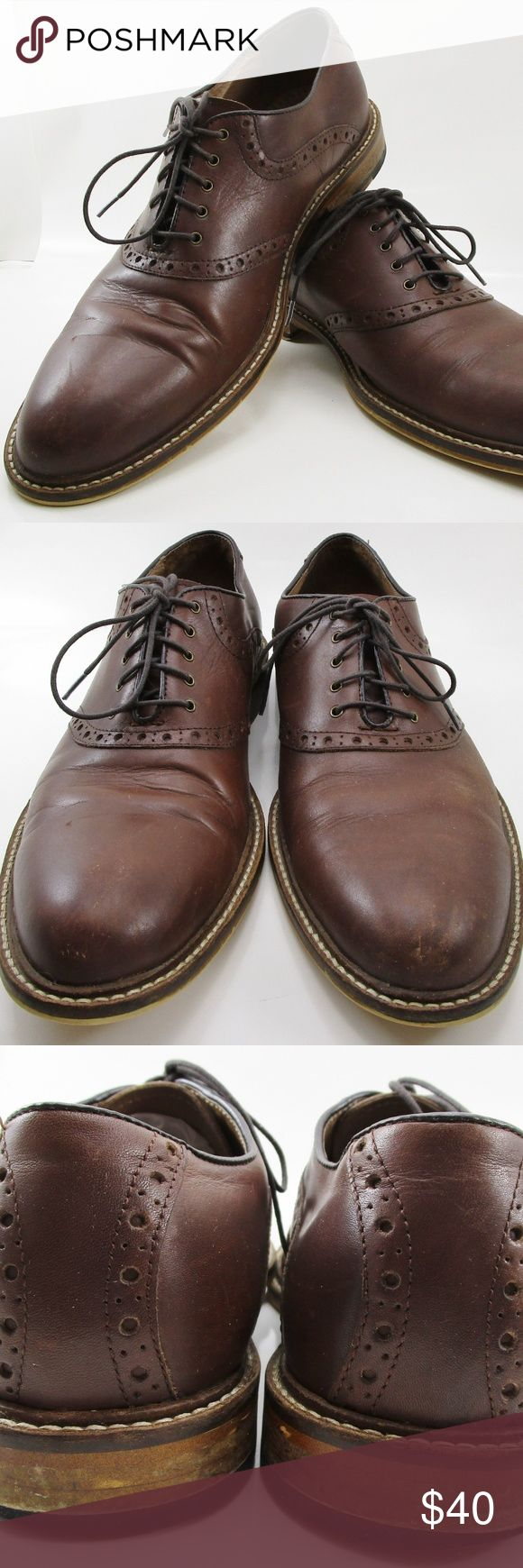 Aston Grey Tokyo Brown Leather Oxford 10.5 Brogue Mens Aston Grey Tokyo Brown Leather Oxford Brogue Dress Shoes 10.5 M US.  Used in good condition - very well made shoes.  Shows normal signs of wear including minor scuffs - easily polished.  Please refer to photos for details. Aston Grey Shoes Loafers & Slip-Ons