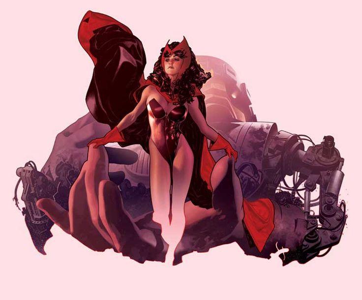 Scarlet Witch by Adam Hughes