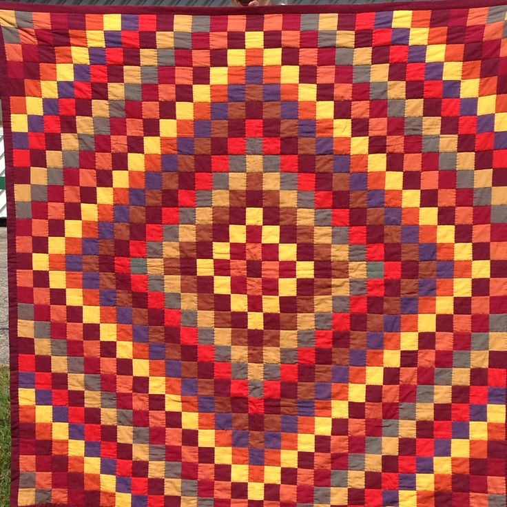 """Sunshine and Shadow Quilt for AW and ZT - 100% cotton. Kaffe Fassett woven stripes and shot cotton fabrics - 60x60"""" - machine pieced, hand quilted, finished Sep 2014"""