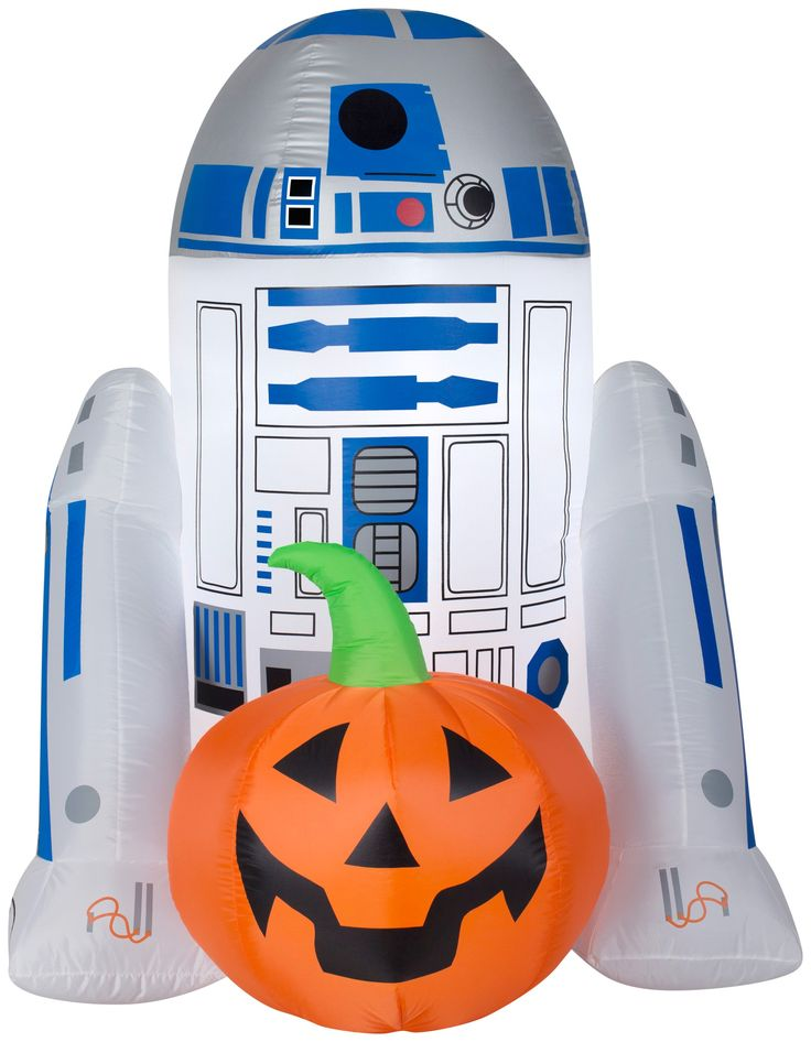 5' Airblown RD2D with Jack O Lantern Star Wars Halloween Inflatable