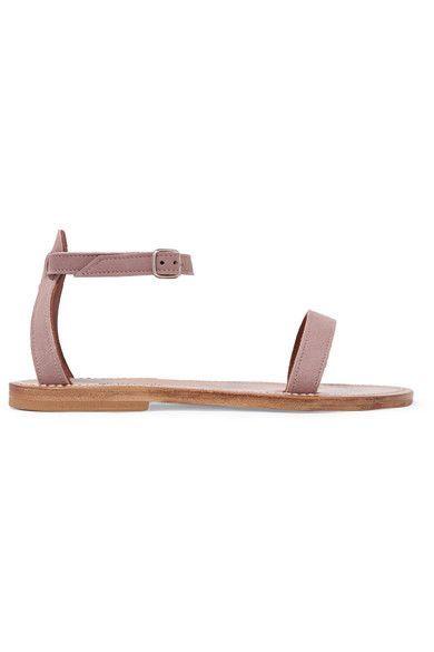 Slight heel  Antique-rose suede Buckle-fastening ankle strap Designer color: Winter Rose Made in France