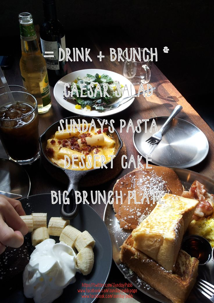 standard brunch table mac&cheese casearsalad frenchtoast pancake and chocolate cake :q brunch poster