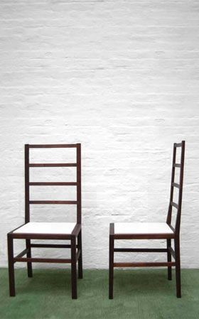Ladder chair bddw. Reminds me of a ming chair with an american touch: Dining Rooms, Chairs They R, Dining Chairs, Suteki Furniture, Chairs Bbdw, Furniture Design, Tube Furniture, Ladder Chairs, Side Chairs