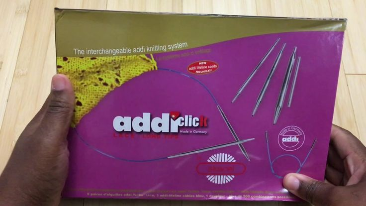 Addi Knitting Needle Lace Click Long Tips set. (OFF TOPIC Review)
