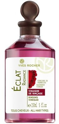 Yves Rocher aceto da risciacquo. Capelli più lucidi e vitali, dalla radice alle punte, al delizioso profumo di lampone!