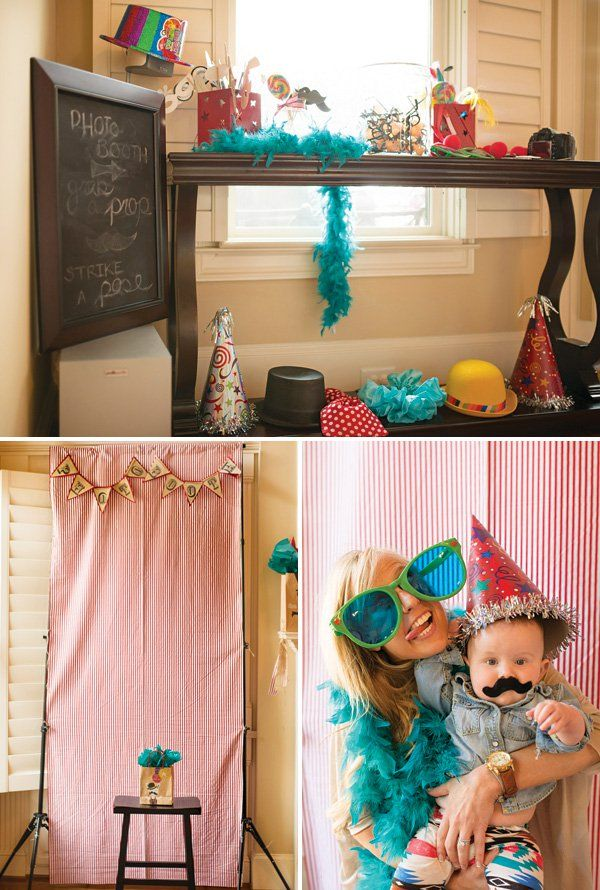 homemade photo booth with crazy silly props