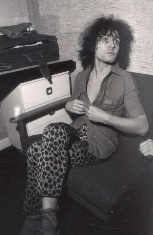 """Marc in his """"Marc"""" TV show dressing room (1977)"""