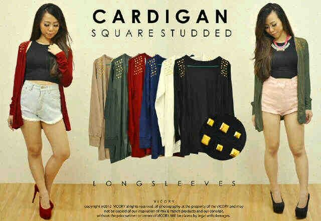 Cardigan Squere Studded