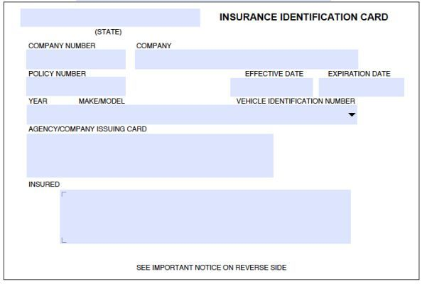 8 Blank Drivers License Template Id Card Template Card Templates Free State Farm Insurance