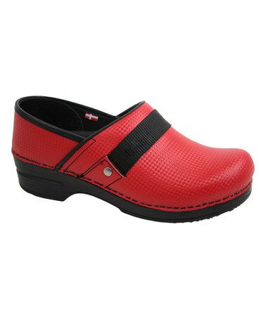 Look what I found on #zulily! Red SmartStep Rae Lyn Leather Clog - Women by Sanita #zulilyfinds