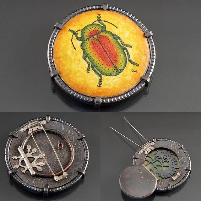 Charity Hall | Chrysomelid (leaf beetle) brooch