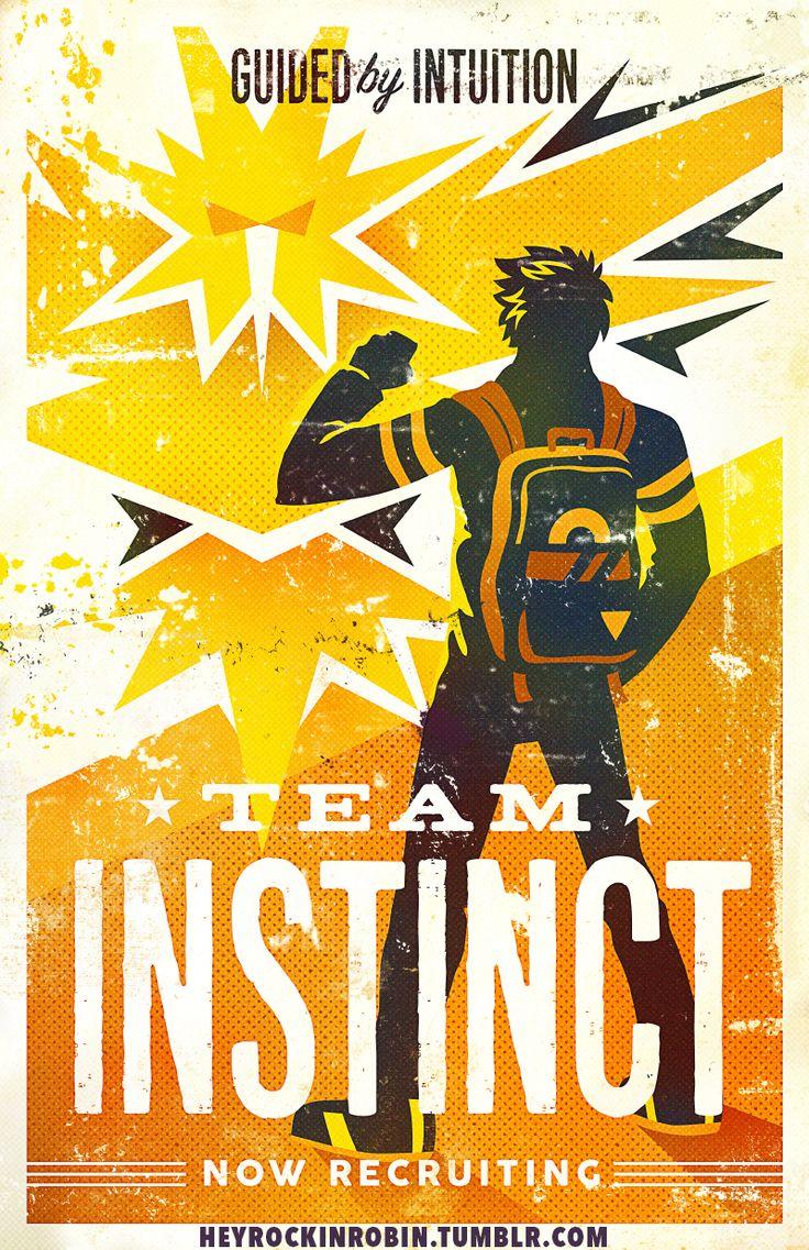 Pokemon Go Team Instinct Poster - $15