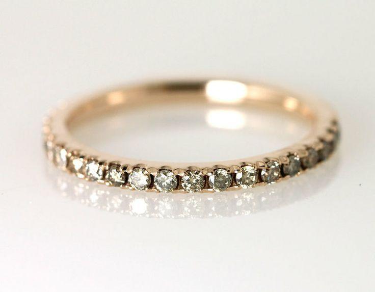 Beisteckring Memoiren-Ring  Diamantring Rotgold von SCHMUCKGARTEN auf DaWanda.com