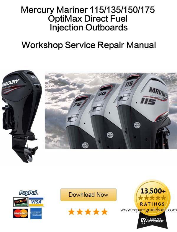 mercury optimax 115 135 150 175 outboard factory repair