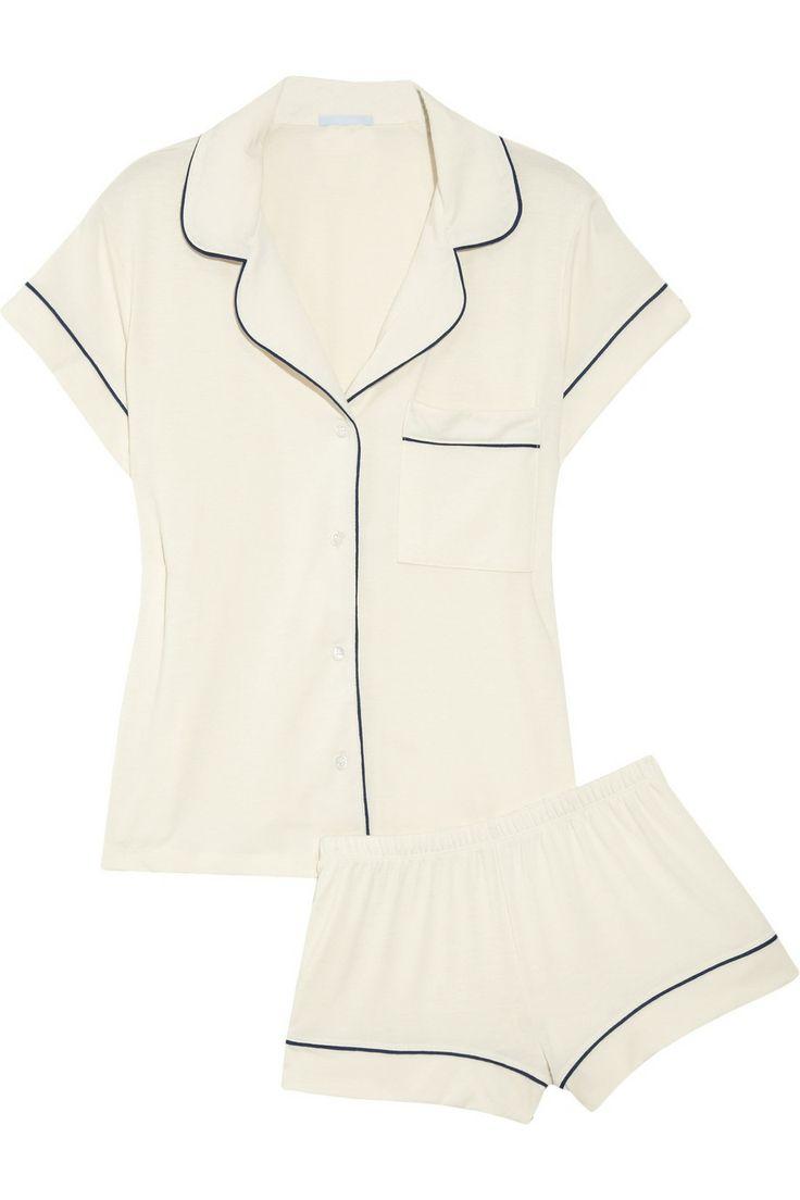 laying around the house outfit- Eberjey|Gisele stretch-jersey pajama set|NET-A-PORTER.COM